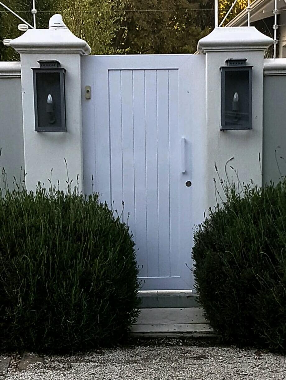 Aluminium gate pedestrian (white)
